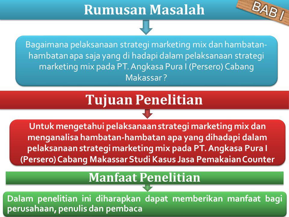 Bagaimana pelaksanaan strategi marketing mix dan hambatan- hambatan apa saja yang di hadapi dalam pelaksanaan strategi marketing mix pada PT. Angkasa