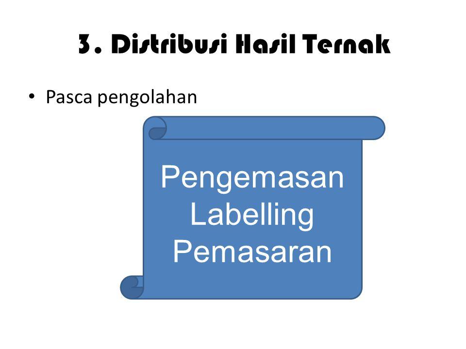 3. Distribusi Hasil Ternak Pasca pengolahan Pengemasan Labelling Pemasaran