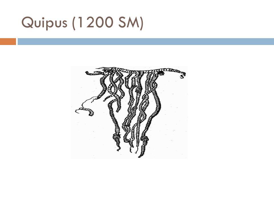 Quipus (1200 SM)