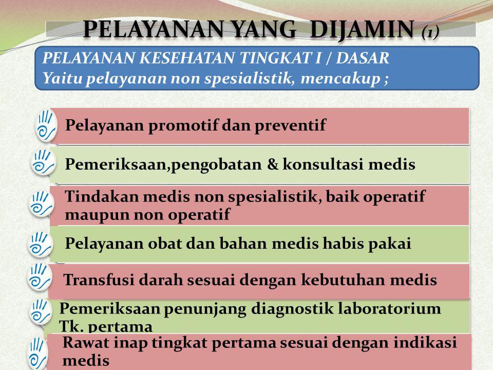 1.Kejang Demam 2. Tetanus 3. HIV AIDS tanpa komplikasi 4.