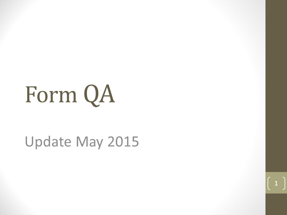 Form QA Update May 2015 1