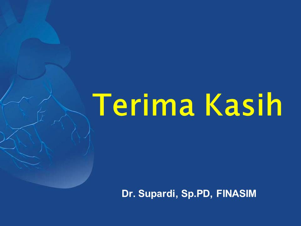 Terima Kasih Dr. Supardi, Sp.PD, FINASIM