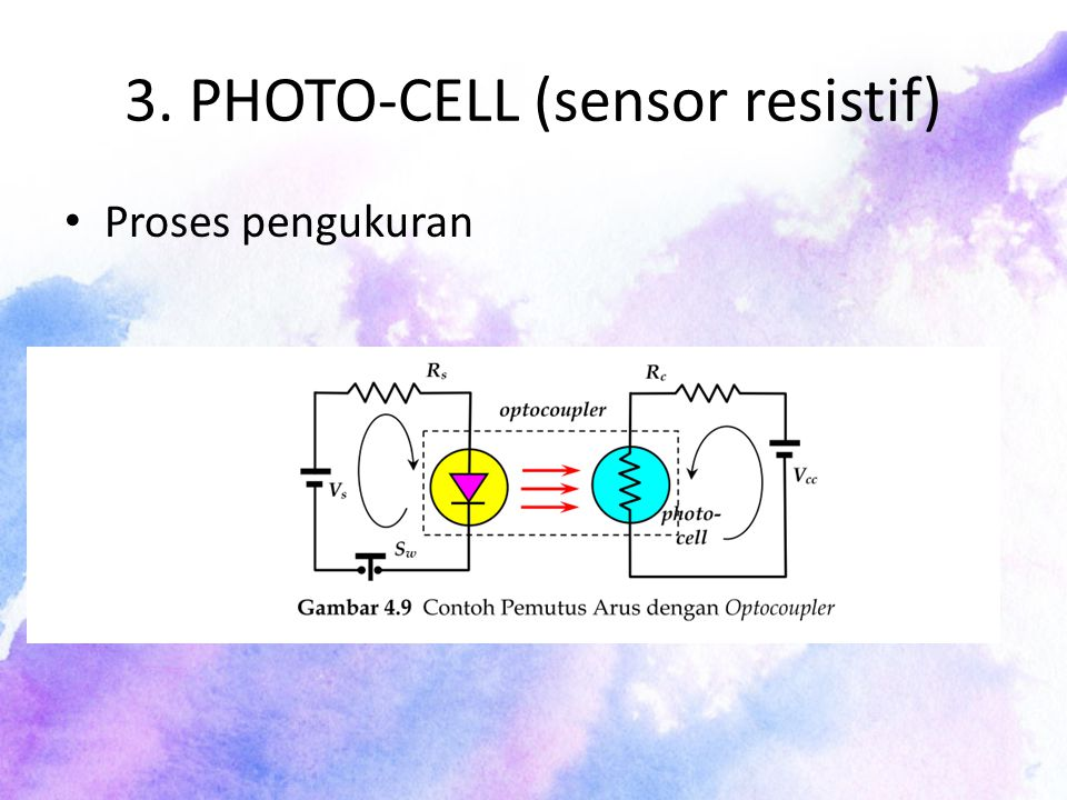 3. PHOTO-CELL (sensor resistif) Proses pengukuran