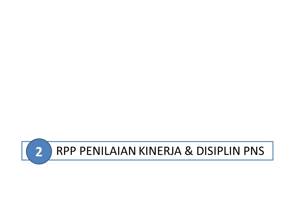 RPP PENILAIAN KINERJA & DISIPLIN PNS 2