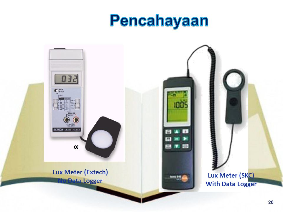 20 Lux Meter (Extech) No Data Logger Lux Meter (SKC) With Data Logger