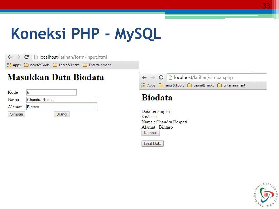 33 Koneksi PHP - MySQL