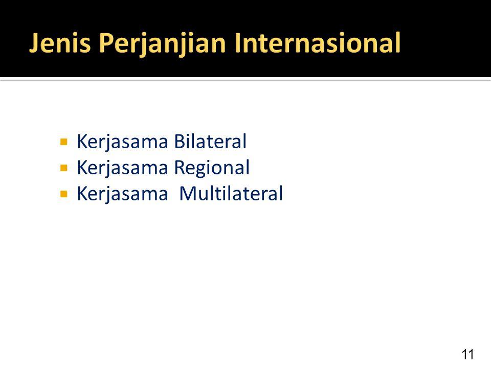  Kerjasama Bilateral  Kerjasama Regional  Kerjasama Multilateral 11