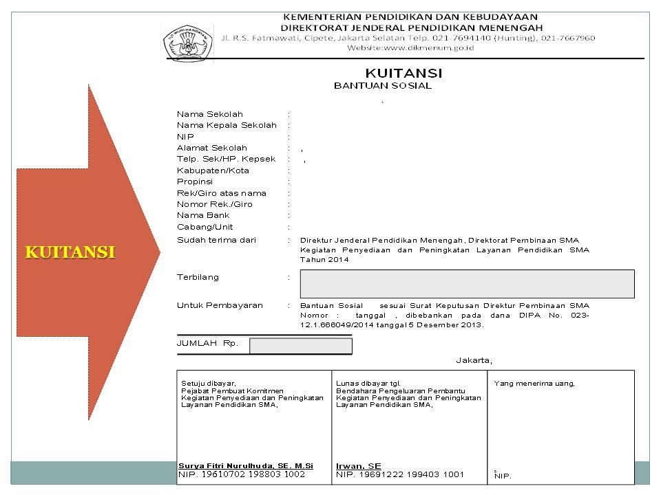 HAL-HAL YANG HARUS DIPERHATIKAN Dokumen SP2D, Kuitansi, SPTJM Pedoman & Panduan Bansos Proposal hasil review
