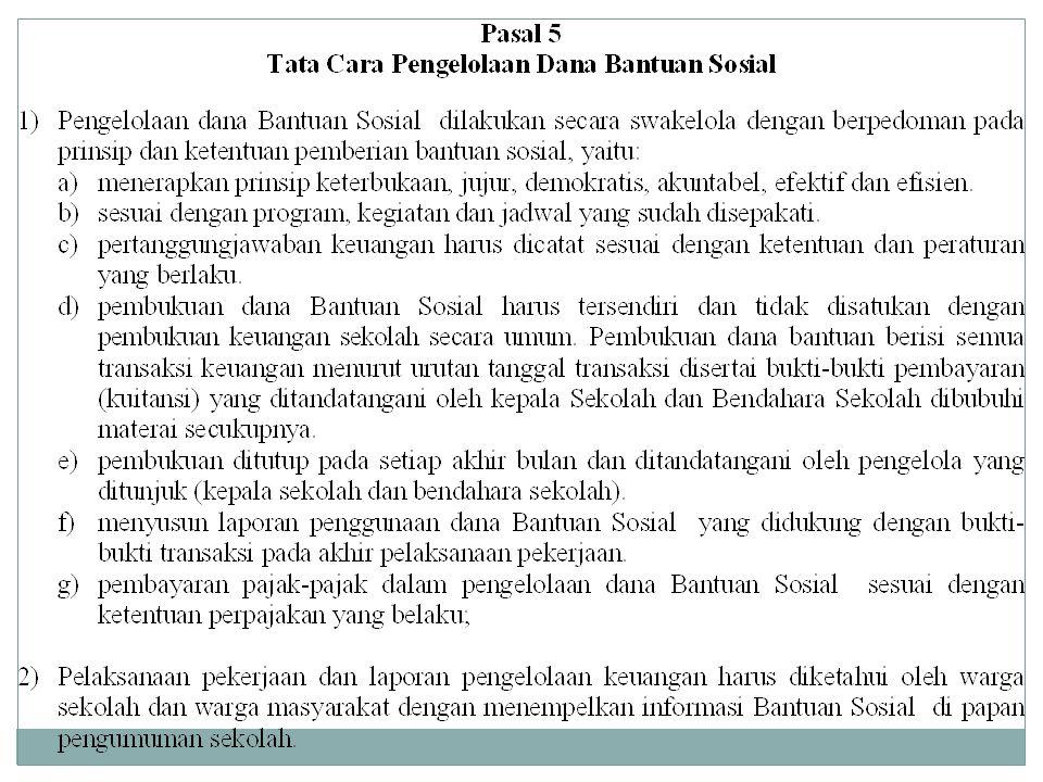 PATUHI ETIKA PENGELOLAAN BANTUAN SOSIAL