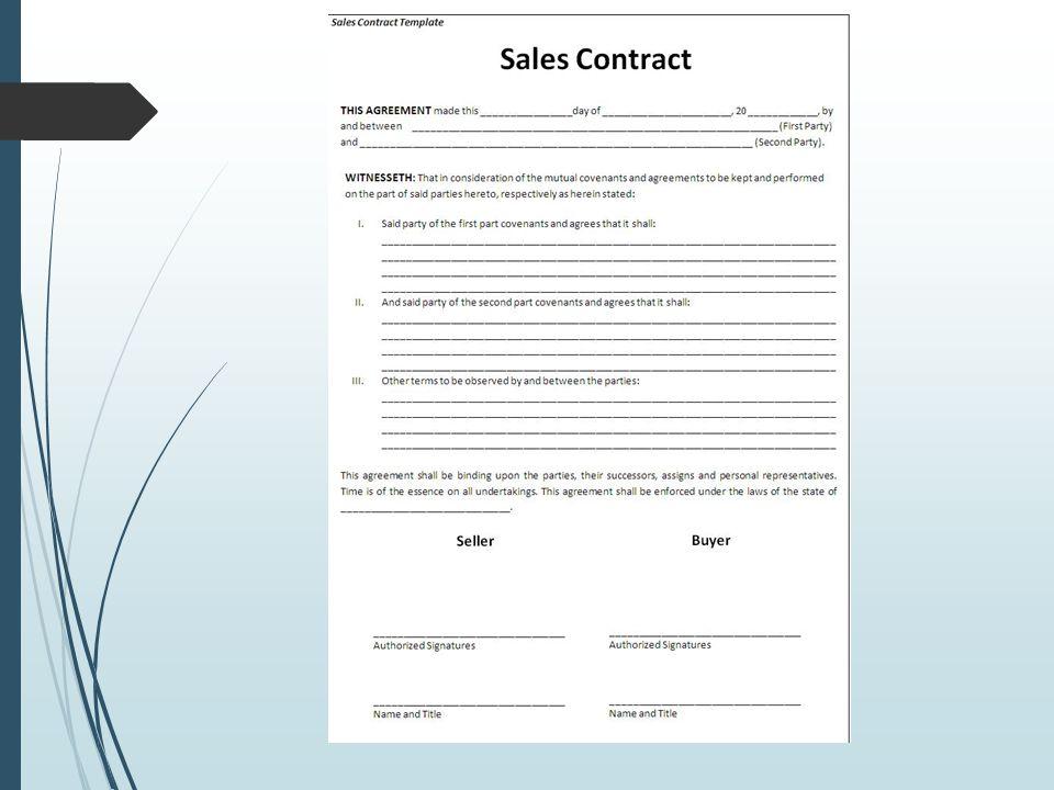  Kesepakatan antara eksportir dan importir, dituangkan dalam Sales Kontrak.