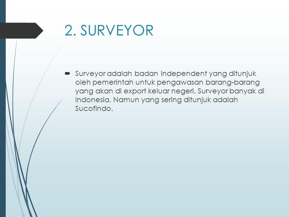 Dalam tugasnya Sucofinco mempunyai 2 peran yaitu : -Mewakili pihak Pemerintah Indonesia untuk mengawasi barang-barang yang diexport, khususnya yang terkena Pajak Export (PE) -Mengawasi export yang terkait dengan fasilitas Bapeksta
