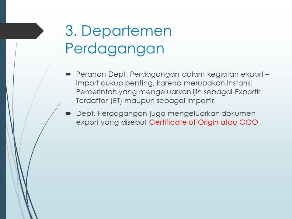  COO merupakan surat pernyataan bahwa barang- barang yang diexport tersebut benar-benar dibuat di Indonesia sehingga bisa mendapatkan fasilitas GSP dari Negara-Negara pemberi preference.