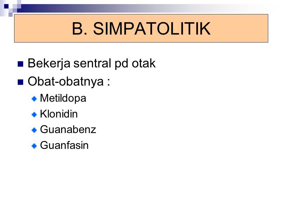 Obat-obat Kalsium Antagonis NIFEDIPIN DosisPemakaian dan Pertimbangan Tablet SR 30-60 mg/hari Baik diabsorpsi secara peroral terutama sub lingual