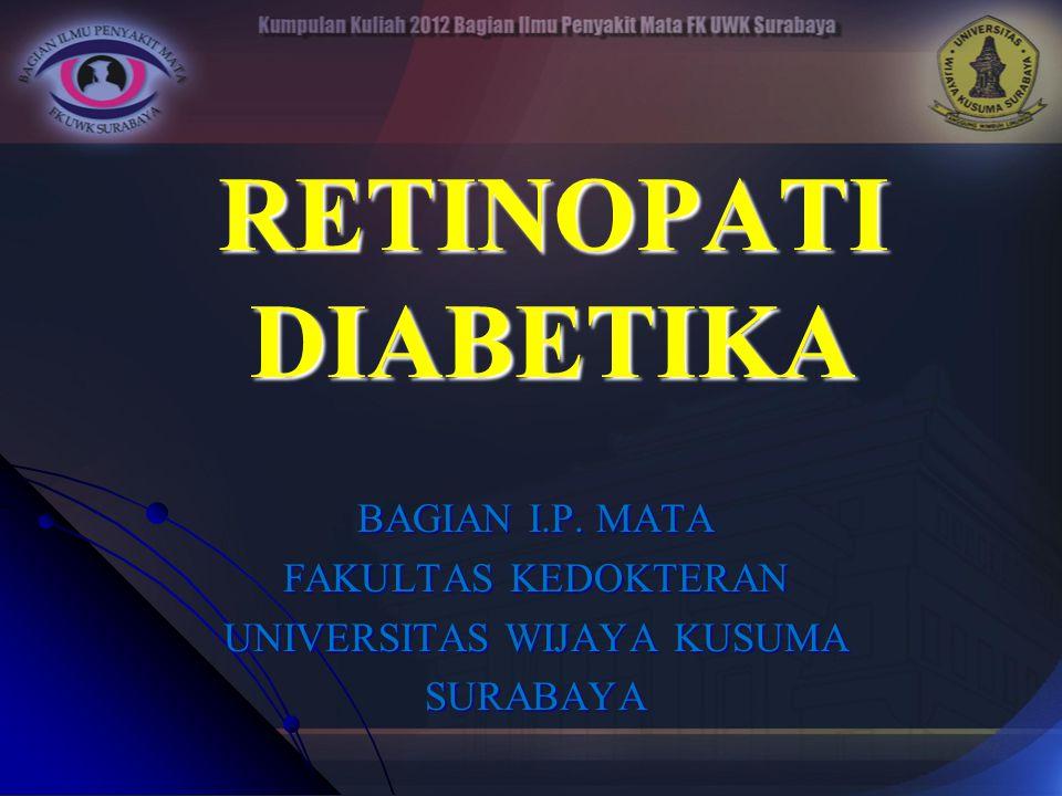RETINOPATI DIABETIKA BAGIAN I.P. MATA FAKULTAS KEDOKTERAN UNIVERSITAS WIJAYA KUSUMA SURABAYA
