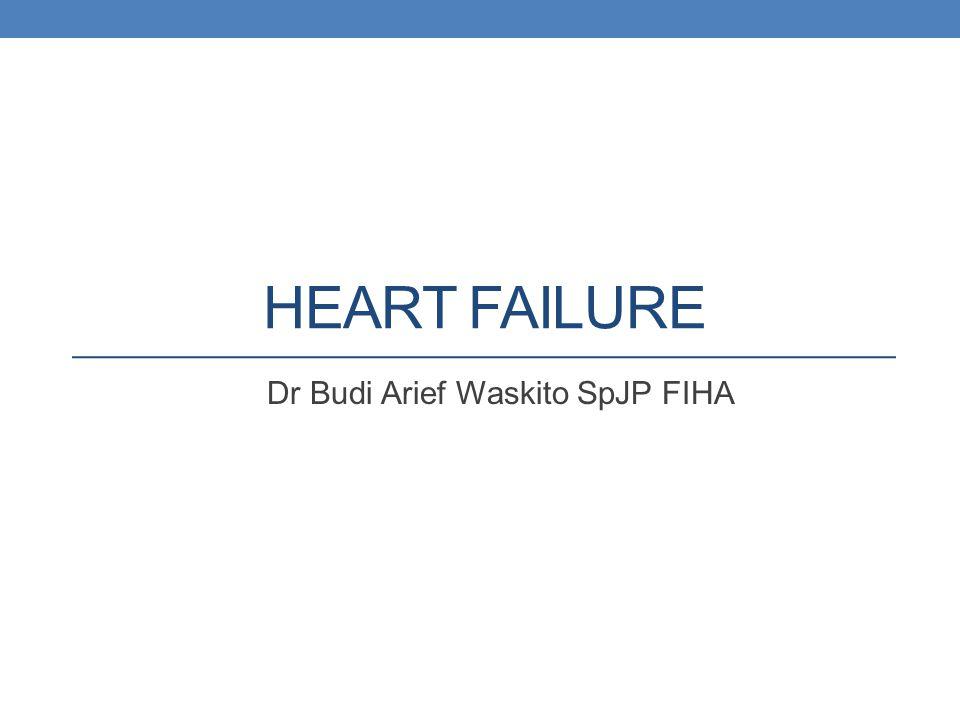HEART FAILURE Dr Budi Arief Waskito SpJP FIHA