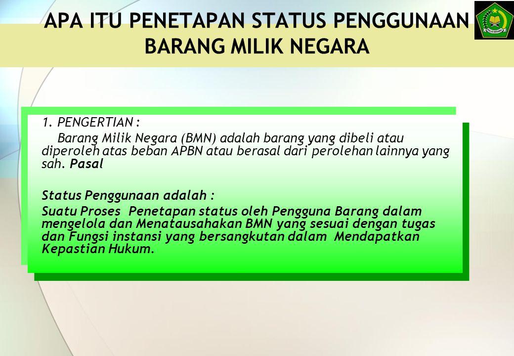 KEMANA PENGHAPUSAN BMN DIUSULKAN KMA 83 TAHUN 2013 TENTANG PENDELEGASIAN WEWENANG DALAM PENGELOLAAN BMN