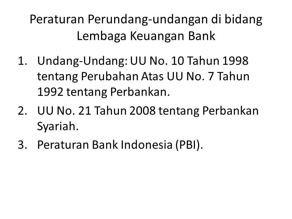 Peraturan Perundang-undangan di bidang Lembaga Keuangan Non-Bank 1.Asuransi: UU No.