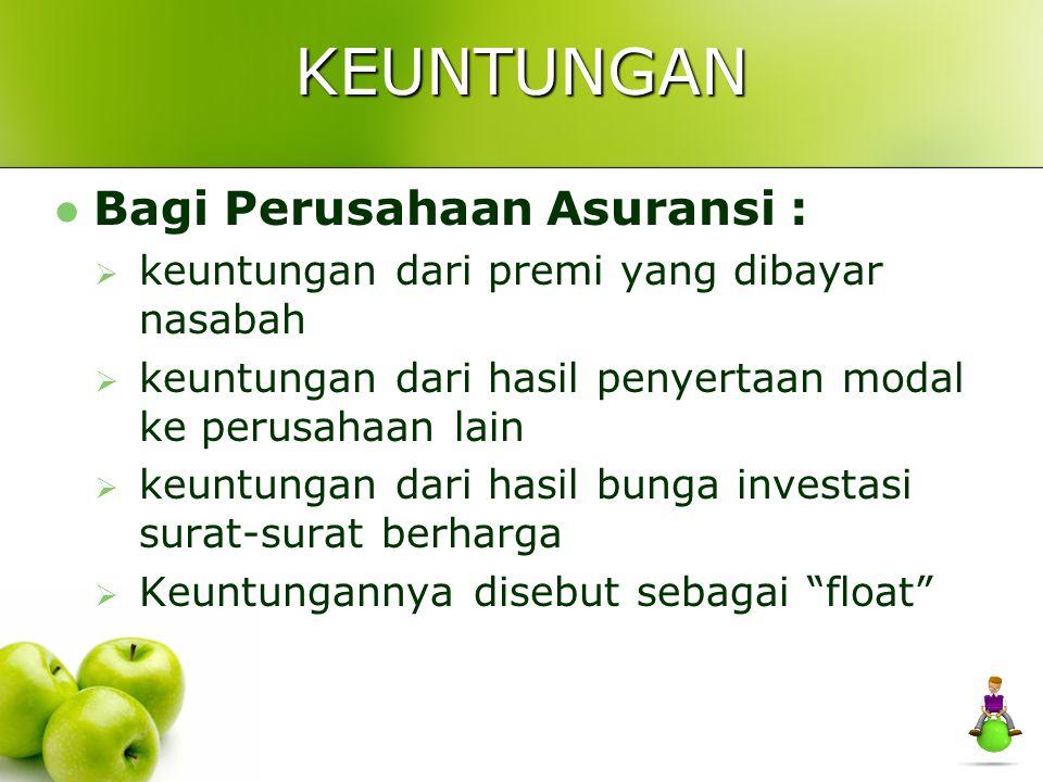 Bagi Nasabah :  memberi rasa aman  merupakan simpanan yang pada saat jatuh tempo dapat ditarik lagi.