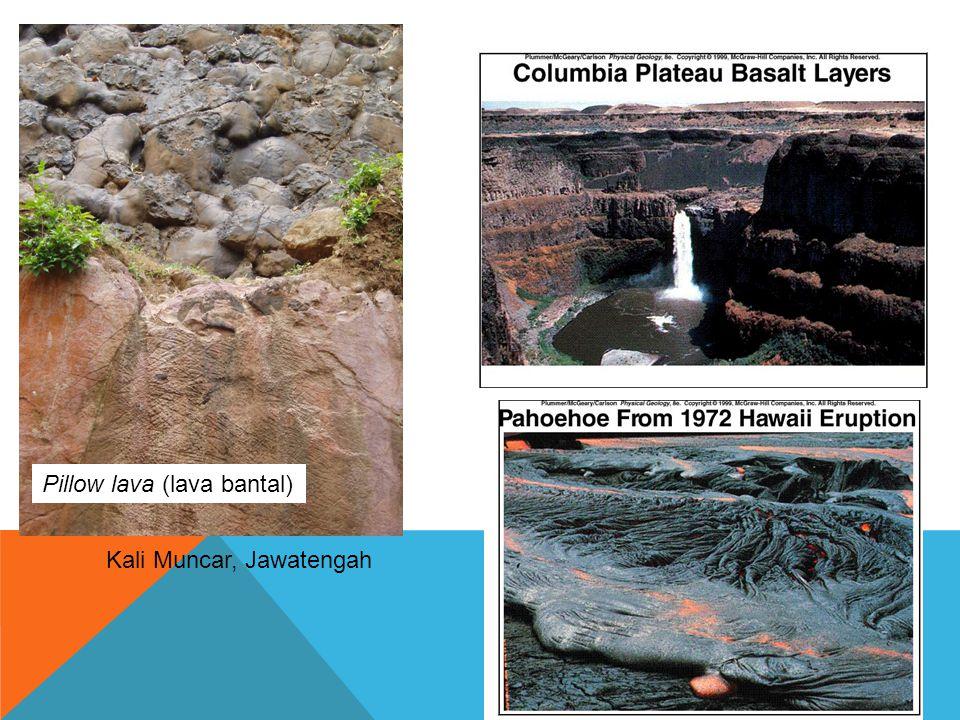 Pillow lava (lava bantal) Kali Muncar, Jawatengah