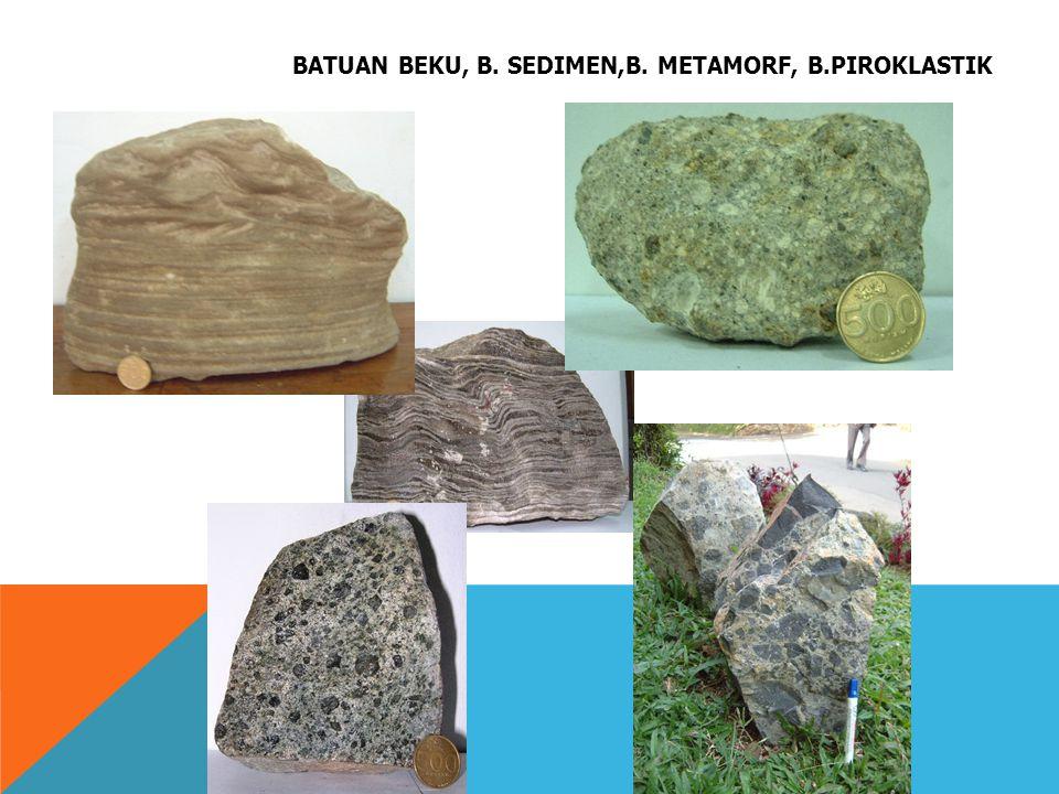 BATUAN BEKU, B. SEDIMEN,B. METAMORF, B.PIROKLASTIK