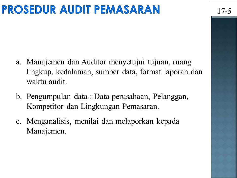 a.Manajemen dan Auditor menyetujui tujuan, ruang lingkup, kedalaman, sumber data, format laporan dan waktu audit. b.Pengumpulan data : Data perusahaan