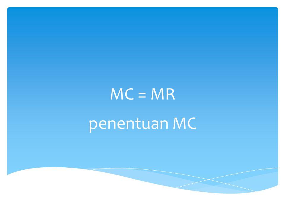 MC = MR penentuan MC