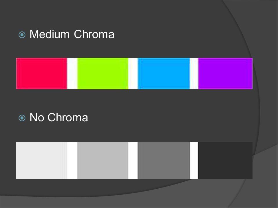  Medium Chroma  No Chroma