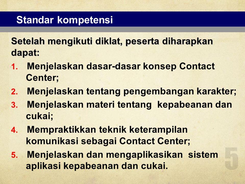 Mata diklat (e-learning) 6 No Mata Diklat 1.Penyegaran Kepabeanan dan Cukai; 2.