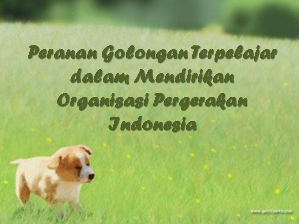 Perhimpunan Indonesia Merupakan organisasi sosial pertama yang menggunakan nama Indonesia Organisasi ini dipimpin oleh pemuda yang berada di Belanda diantaranya Sutan Kasayangan, Moh.