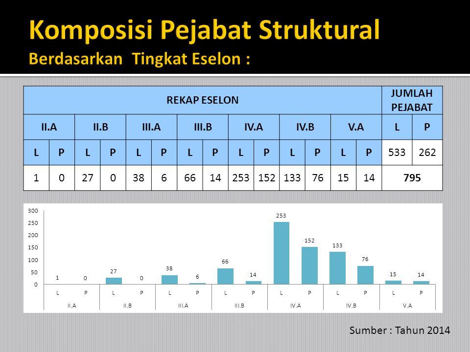 Tingkat Pendidikan StrukturalFungsional JUMLAH% LPLP SD400040.073 SLTP10000 0.184 SMA2566013034278814.467 Diploma292217654176814.100 Sarjana3802388891