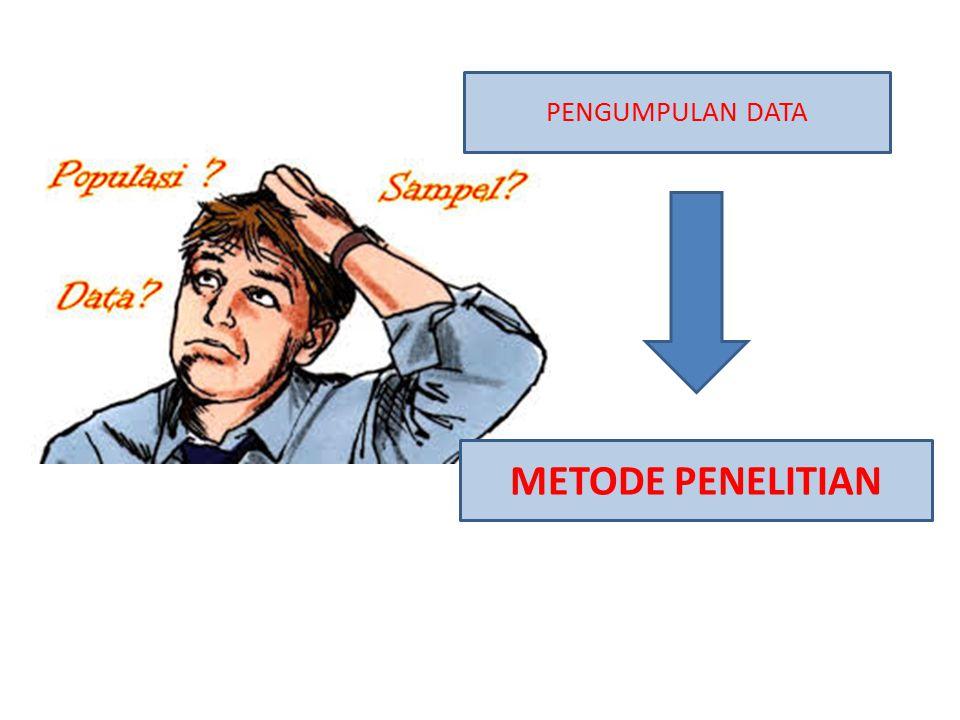 PENGUMPULAN DATA METODE PENELITIAN
