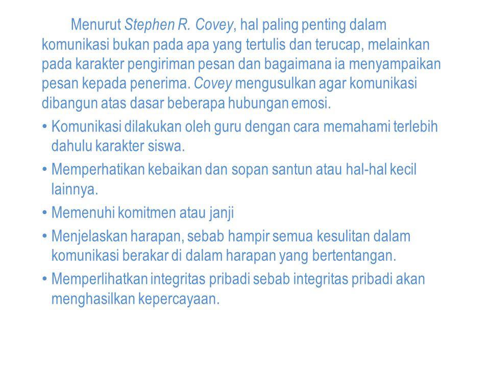 Menurut Stephen R.