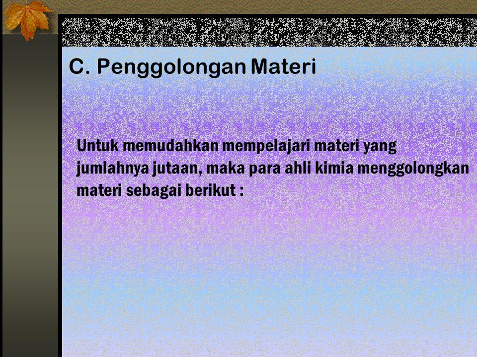 B. Wujud Materi Secara umum ada 3 wujud materi :