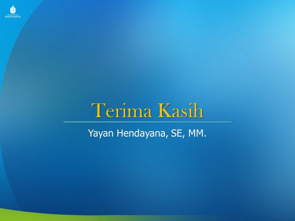 Terima Kasih Yayan Hendayana, SE, MM.