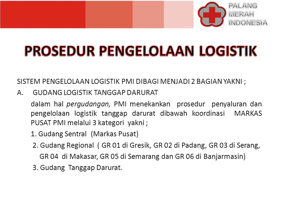 (logistics Inventory and Control) (kontrol dan persediaan logistik)