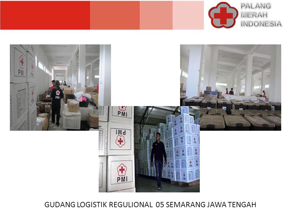 SISTEM PENGELOLAAN LOGISTIK PMI DIBAGI MENJADI 2 BAGIAN YAKNI ; A.GUDANG LOGISTIK TANGGAP DARURAT dalam hal pergudangan, PMI menekankan prosedur penyaluran dan pengelolaan logistik tanggap darurat dibawah koordinasi MARKAS PUSAT PMI melalui 3 kategori yakni ; 1.