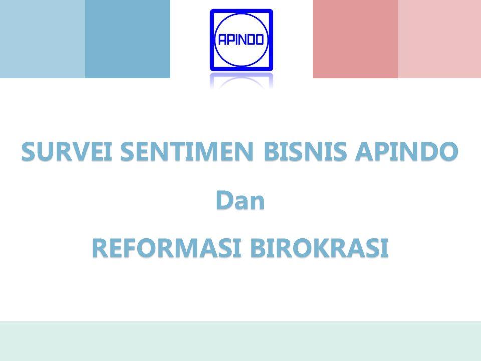 SURVEI SENTIMEN BISNIS APINDO Dan REFORMASI BIROKRASI