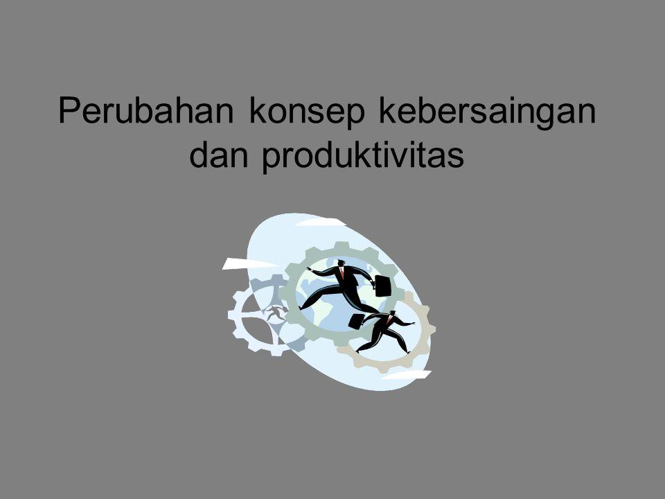 Perubahan konsep kebersaingan dan produktivitas
