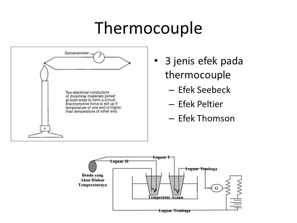 Thermocouple 3 jenis efek pada thermocouple – Efek Seebeck – Efek Peltier – Efek Thomson