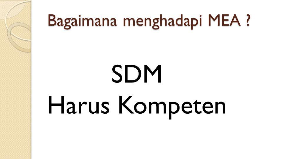 Bagaimana menghadapi MEA ? SDM Harus Kompeten