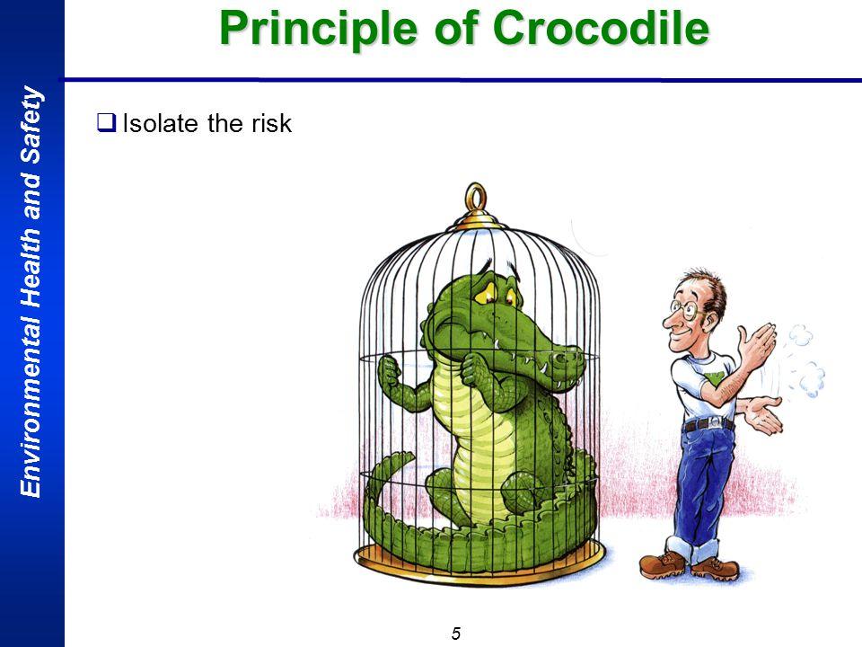 5 Principle of Crocodile  Isolate the risk