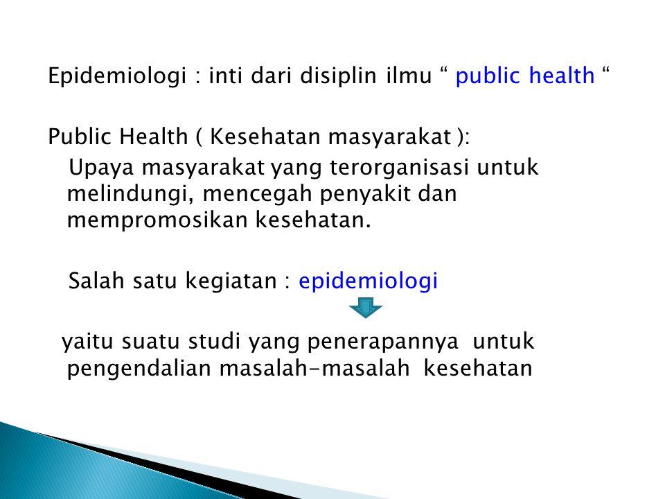 Epidemiology ---- dari gagasan hypocrates dalam tulisan berjudul On Airs, Waters and Places.