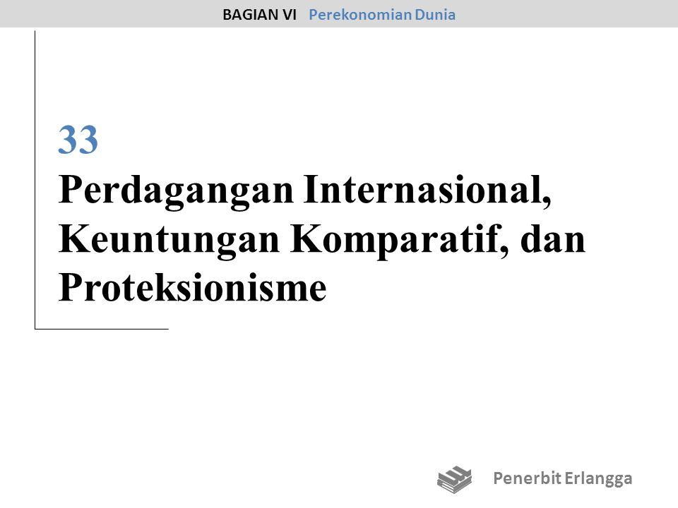 33 Perdagangan Internasional, Keuntungan Komparatif, dan Proteksionisme BAGIAN VI Perekonomian Dunia Penerbit Erlangga