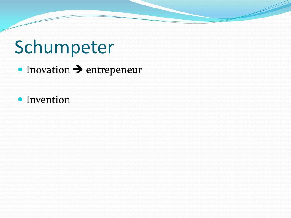 Schumpeter Inovation  entrepeneur Invention