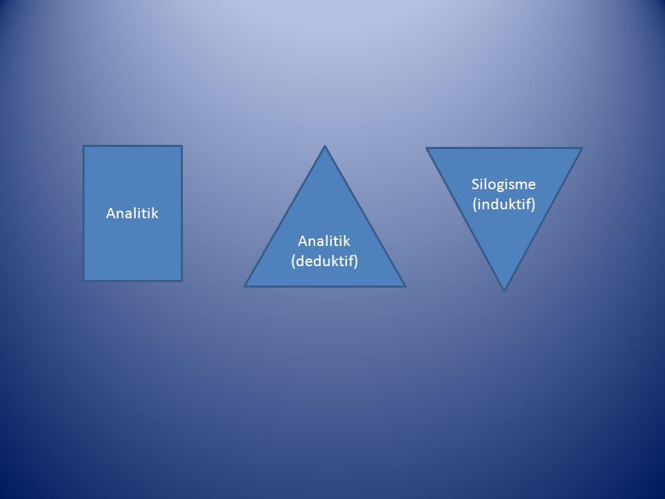 Analitik Analitik (deduktif) Silogisme (induktif)