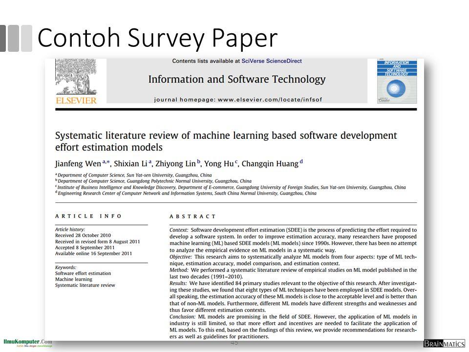 Contoh Survey Paper 45