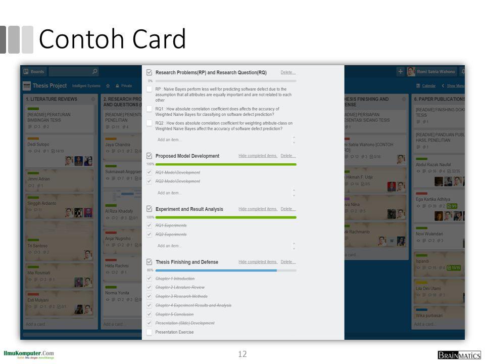 Contoh Card 12