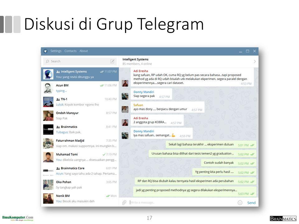 Diskusi di Grup Telegram 17
