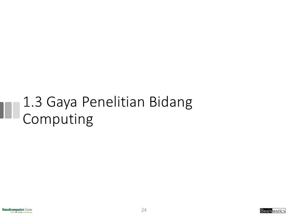 1.3 Gaya Penelitian Bidang Computing 24