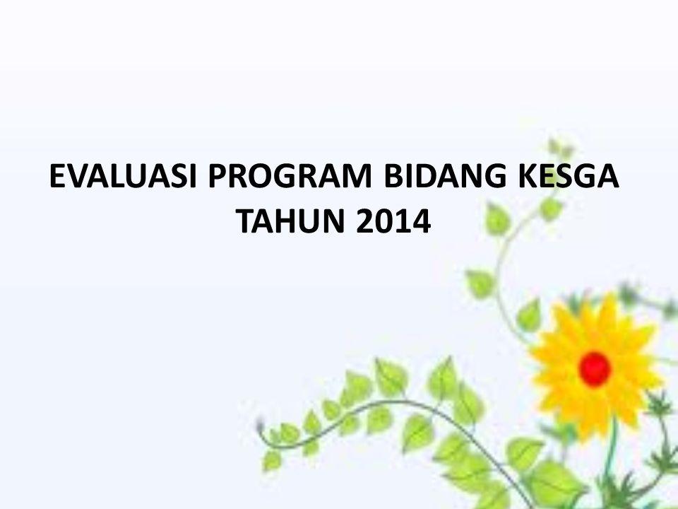 EVALUASI PROGRAM BIDANG KESGA TAHUN 2014
